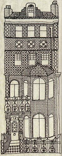 Sundial Books 1979, author Lynette de Demme - Number 73 (Blackwork)   Glad you could make it