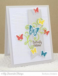 Butterfly Wishes - MFT Color Challenge
