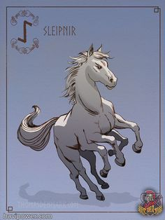 Chapter What Animals Did Norse Gods Have and Why Them? ODIN AND SLEIPNIR HORSE Chances are that you have caught sight of Odin the Allfather in Norse myth riding his horse wandering around the Nine Worlds. Mythological Creatures, Fantasy Creatures, Mythical Creatures, North Mythology, Loki Norse Mythology, Symbole Viking, Old Norse, Viking Art, Norse Vikings