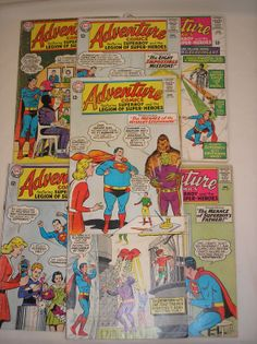 1964 - 1965 Superboy & The Legion Of Super Heroes By Adventure Comics - Bundle of 7 by daddydan, $39.95