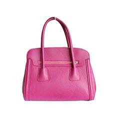 Layla Italian Bright Pink Leather Shoulder Bag - £69.99