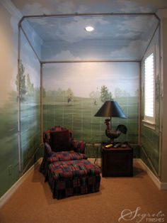 painted mural. check out the rest of the work on the site also. Awesome!
