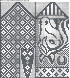 Жаккардовые узоры для варежек спицами (схемы) Knitted Mittens Pattern, Fair Isle Knitting Patterns, Knitting Charts, Knit Mittens, Easy Knitting, Knitting Socks, Kitten Mittens, Norwegian Knitting, Knit Art
