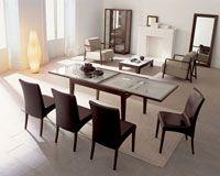 Bon Ton Glass Extension Dining Table