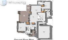 Modern house designs plans for a 4 bedroom home is for sale online. Browse our collection of floor plans with photos and modify any plan to suit your needs. Tuscan House Plans, Luxury House Plans, Dream House Plans, House Floor Plans, 6 Bedroom House Plans, 4 Bedroom House Designs, Garage House Plans, Double Storey House Plans, House Plan With Loft