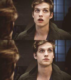 Isaac's face.