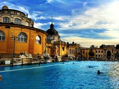 Thermal baths, Budapest Hungary