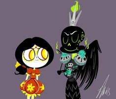Young La Muerte and Xibalba (so freaking cute)