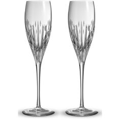 MoniqueLhuillierWaterford 'Stardust' Lead Crystal ChampagneFlutes (350 BRL) ❤ liked on Polyvore featuring home, kitchen & dining, drinkware, clear, waterford, waterford champagne flutes, modern champagne flutes and lead crystal champagne flutes