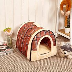 XILALU Multifunction Pet House Cute Soft Kennel Product Dog Bed Washable Puppy Cat Cushion Mat L 60X45 cm -- You can get more details by clicking on the image.
