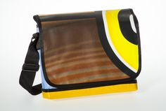 Messenger Bagy: brown & yellow