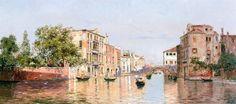 Antonio Maria de Reyna Manescau - Canal in Venice