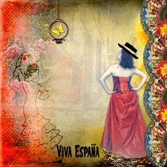 Bribri62-Scrap: Ma page avec le Kit Flamenco de Kittyscrap