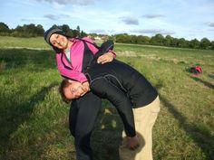 Military Surviving Trek Maidstone, Kent, UK. Having fun :)