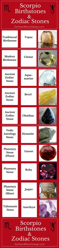 Discover the ancient Zodiac Stones and birthstones for Scorpio women; beautiful gemstones and handmade jewelry befitting the alluring women who wear them.