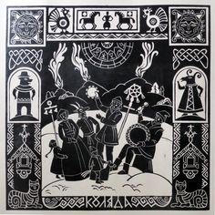 Просмотреть иллюстрацию Коляда из сообщества русскоязычных художников автора Olga Sennikova в стилях: Графика, нарисованная техниками: Эстамп.