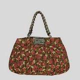 Fendi First Choice for The Season 2293 F material with brown rose flower handbag