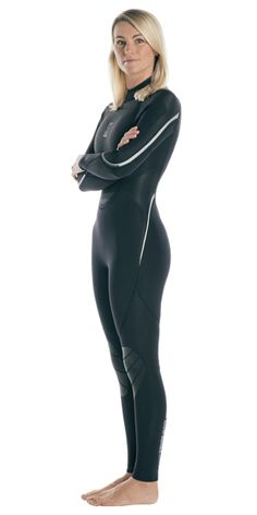 Fourth Element Proteus II Wetsuit Women / Black / Gray / 12 Women's Diving, Diving Suit, Cave Diving, David Beckham Suit, Leather Trousers Outfit, Diving Wetsuits, Scuba Girl, Womens Wetsuit, Man Swimming