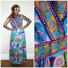 60s Psychedelic Floral Paisley Mod Dress. Rare by ElevatedWeirdo