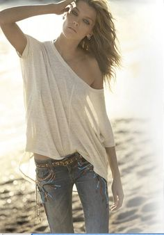 fashion related - cute summer outfit - white shirt - jeans - clothing - simple clothes