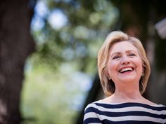 The video features footage of and famous quotes by prominent female leaders, including Gloria Steinem and Rosa Parks, and of course, Clinton herself.