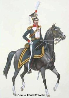 11è Uhlans - Colonel Commandant - Potocki- 1812 Pologne
