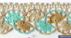 Crochet Shell Edging Tutorial - (mypicot)
