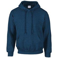 Gildan Heavy Blend Erwachsenen Kapuzen-Sweatshirt 18500 Blue Antique Sapphire, M - http://besteckkaufen.com/products/m-gildan-unisex-kapuzen-sweatshirt-heavy-blend-17