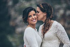A gorgeous mountaintop wedding with two beautiful brides | Steph Grant