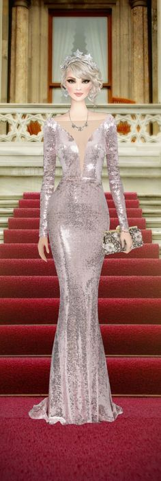 Grand Entrance - Fashion Illustrations, Fashion Sketches, Covet Fashion Games, Fashion Royalty Dolls, Grand Entrance, Ball Gown Dresses, Ao Dai, Cloths, Barbie