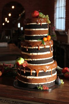 Naked Cake- I like the little bit of melted chocolate. It adds interest and taste!