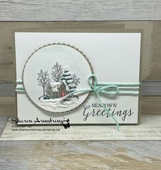 How to Make a Polar Bear Christmas Card with Texture & Glimmer, weihnachtshaus ideen, Stampin Up Christmas, Christmas Cards To Make, Christmas Greeting Cards, Simple Christmas, Christmas Greetings, Holiday Cards, Christmas Diy, Stampinup Christmas Cards, Christmas Tables