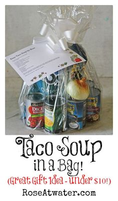 Taco Soup in a Bag (Great Gift Idea under $10!) …
