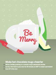 Make hot chocolate mugs cheerier