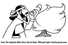 Lord Speaks Moses Burning Bush- Teaching Resources