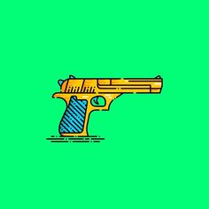 "293 Likes, 6 Comments - Victor Belinatti (@belinattink) on Instagram: ""My baby. Golden Desert Eagle! Liquid Design. 27/366. #icons #icon #iconaday #design #succulents…"""