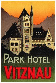 Svizzera - Vitznau - Grand Hotel by Luggage Labels