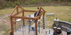 Western Timber Frame Assembly