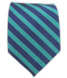 Road House Stripe - Green Teal/Deep Periwinkle | The Tie Bar