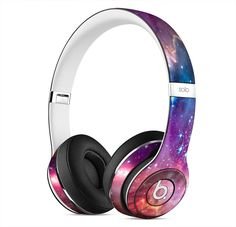 Star Cluster through a Purple Galaxy Skin for Apple Beats By Dre Solo 2 Wireless Headphones Cute Headphones, Bluetooth Headphones, Best Gaming Headset, Accessoires Iphone, Beats By Dre, Leica, Phone Accessories, Xbox, Cool Things To Buy