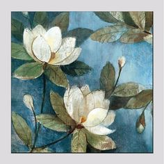 Fabric Painting, Oil Painting On Canvas, Canvas Art, Acrylic Flowers, Watercolor Flowers, Lilies Drawing, Framed Wallpaper, Buddha Art, Magnolia Flower