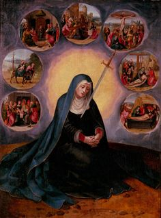 An explanation of the devotion to Our Lady of Sorrows, the associated promises, and prayers.