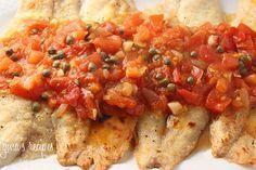 Broiled Tilapia with Tomato Caper Sauce #tilapia #caper #tomato #fish #seafood #glutenfree