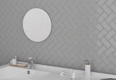 Restroom or bathroom renovation using grey glossy tiles for a monochrome look. FREE SAMPLES are available to order online. Splashback Tiles, Free Samples, Monochrome, Rustic, Bathroom, Grey, Wall, House, Furniture