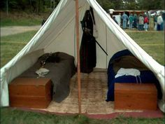 A frame tent style...looks like it would be great for the boys!