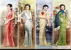 old shanghai fashion poster