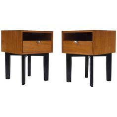 Pair of Bedside Tables by George Nelson for Herman Miller | From a unique collection of antique and modern bedroom furniture at https://www.1stdibs.com/furniture/more-furniture-collectibles/bedroom-furniture/
