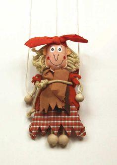 Čarodějnice , Textilní loutka , Látková loutka marioneta ...