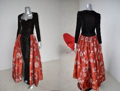 Fabulous 80s Escada Couture Gown Midevil by vintagelemonde on Etsy, $675.00
