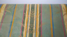 Striped Floral Tapestry  Upholstery Fabric  Greens by Boxtreasures, $9.99